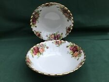 Royal Albert Old Country Roses 2 x Dessert/Cereal/Soup Bowls Dishes 1st Quality
