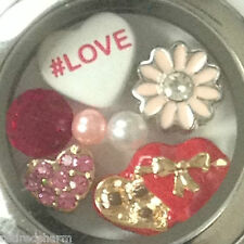 ❤️AUTHENTIC ORIGAMI OWL LOCKET w/ ALL ORIGAMI OWL CHARMS ~ HEART 💘 CHOCOLATE❤️
