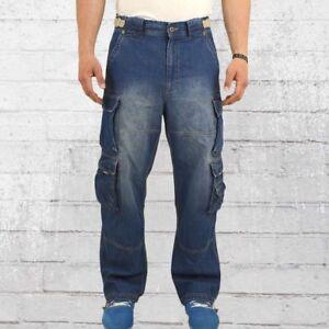 Jet Lag Herren Cargo Jeanshose 007 Denim blue Cargohose Männer Jeans Hose Jetlag
