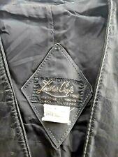 Black Leather Waistcoat.Canadian Pigskin Vintage 1980s