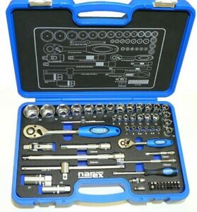"Narex® Professional Socket and Wrench Set 1/4"" + 1/2"" - Fully Set - Factory New"