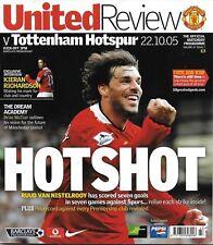 Football Programme>MAN UTD v TOTTENHAM HOTSPUR Oct 2005