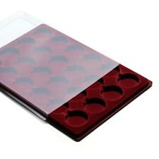 CEZAR RED COIN TRAY FOR PO24 COINS MEDALS + COVER