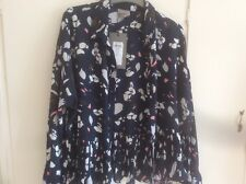 Navy Floral Shirt Size Small Vero Moda New With Tags