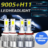 LED Headlight Bulb Fit For 2007-2017 Toyota Camry High Beam 9005+Low Beam H11 US