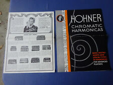 2 Different Circa 1930  Hohner Harmonicas Brochures