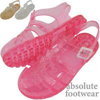 Children's / Kids / Girls Glittery Summer / Garden / Beach / Holiday Jelly Shoes