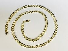 """10k Yellow Gold Comfort Concave Cuban Curb Link Chain Necklace 20"""" 6 mm 8 grams"""