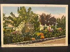 Puerto Rico 1951, Tarjeta Postal Aguas Buenas, Hotel Jagueyes, usada / used