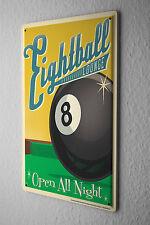 Nostalgic Tin Sign  Eight Ball Billiard Eight