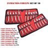 Adult Extraction Forceps set of 10 Dental Surgical Pliers Oral Surgery Teeth