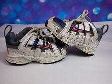 Nike Baby Boy Toddler Sz 4C Athletic Shoes Non Marking Sole White Blue Red Grey