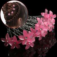 5 STÜCKE Exquisite Mi Braut Weiße Perle Blume Haarnadel Strass Kristall Clip