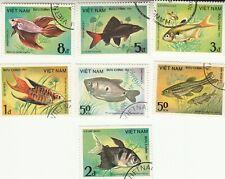 Vietnam  1984 Fish Full Set MNH Precancel