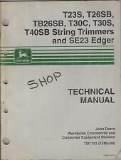 john deere e35 curb edger repair manuals