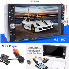 """6.6"""" HD Touch Screen 2DIN Car SUV MP5 Media Player Bluetooth Radio Stereo Player"""