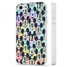Mickey Mouse Faces Colourful WHITE PHONE CASE COVER fits iPHONE