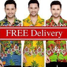 Hawaiian Regular Collar Slim Casual Shirts & Tops for Men