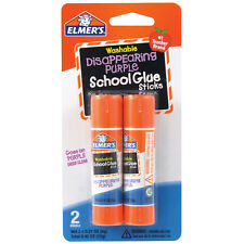 Elmer's Washable Disappearing Purple School Glue Sticks 2 Counts