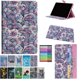 For Samsung Galaxy Tab E A S2 S3 S4 7-10.5 Inch Magnetic Wallet Case Stand Cover