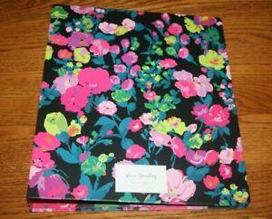Vera Bradley Notebook 3 Ring Binder Hilo Meadow school campus floral RARE NEW