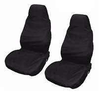 Car Seat Cover Waterproof Nylon Front 2 Protector Plain Black for Audi Q5 Q7 A5