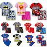 Kids Toddler Pyjamas Super Hero Short Sleeve T-Shirt Shorts Outfit Sleepwear Set