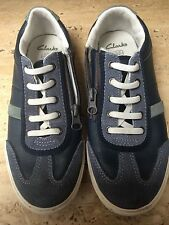 Clarks Leather Upper Shoes for Boys Casual Trainers with Zip