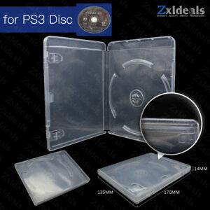 Replacement Case for PS3 Game Disc Spare Clear Box Game Playstation 3 With Logo