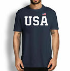 USA Flag Patriotic 4th Of July American T-Shirt, Tee Gift Cotton Navy S-3XL NEW