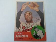 Tommie Aaron Hand Signed Autograph 1963 Topps Rookie Milwaukee Braves With COA