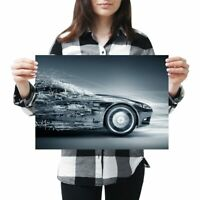A3 - Futuristic Concept Car Driver Vehicle Poster 42X29.7cm280gsm #8666