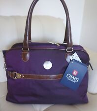 CHAPS Hide Park Collection Purple Travel Tote Weekender Large Bag