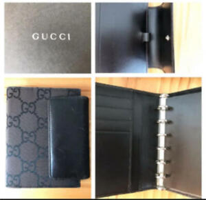 Gucci Agenda Note Cover Daily Planner Black pre-owned