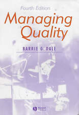 """""""VERY GOOD"""" Managing Quality, , Book"""