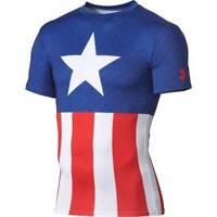 Under Armour CAPTAIN AMERICA FLAG Alter Ego Compression Tee Shirt MEN'S