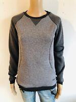 BENCH -Performance Sweatshirt LONG CREW in grau meliert - NEU Gr 42 XL 2392fe