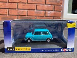 Corgi Vanguards VA01315 Austin Mini Super De Luxe Surf Blue In Box - Mint Car