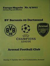 Die Gelbe UEFA CL 2011/12 Borussia Dortmund - Arsenal FC