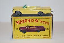 Matchbox Lesney 39B PONTIAC CONVERTIBLE YELLOW 9X24 GPW