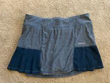 Women's Size L Large Blue Pleated Pleats Tennis Skirt, Head Shorts Underneath