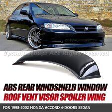FOR 98-02 HONDA ACCORD 4DR 1PC REAR WINDOW ROOF VISOR SUN GUARD BLOCK ABS SMOKE