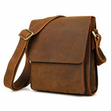Men Real Leather Messenger Bag Business Crossbody Shoulder Bag Office Satchel