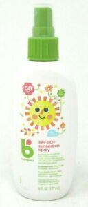 Babyganics Sunscreen Spray SPF 50 UVA + UVB Protection 6 oz Tear Free  Exp 04/22