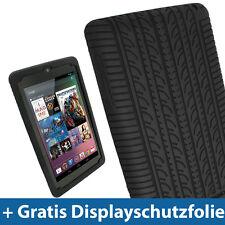 Schwarz Silikon Reifen für Google Nexus 7 Android Tablet 8GB 16GB Tasche Hülle