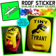 TINY TYRANT roof sticker FITS Little Tikes Cozy Coupe car Jurassic Park kids toy
