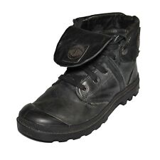 Palladium Fold Over Leather Boots Womens Size US 9 /Eur 41 Black Combat Sole euc