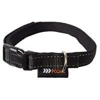 RAC Padded Reflective Collar Adjustable Puppy Dog Collar - Small 25-40CM X 1.5CM