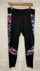 Marks & Spencer M&S Fitness Ladies Black Sport Gym Leggings UK 18   A77