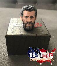 1/6 Wolverine Logan Head Sculpt For Hugh Jackman X-Men HotToys Phicen ❶IN STOCK❶